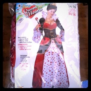 Queen of Hearts dress costume, gorgeous
